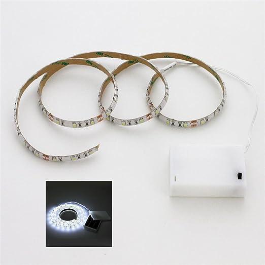 3 opinioni per Striscia a LED, luce bianca fredda, lunghezza 100 cm, alimentata a batteria, con