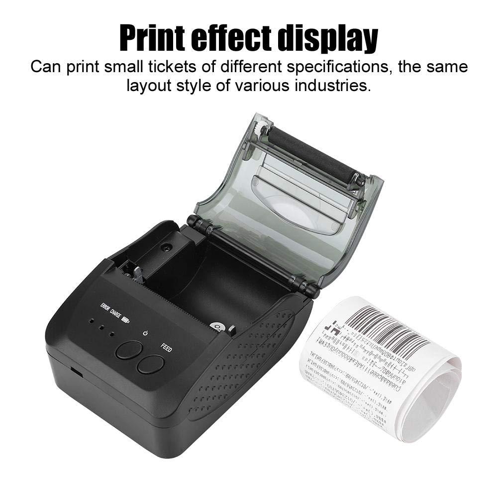 48mm Mini port/átil inal/ámbrico Bluetooth Impresora de tickets de recibo t/érmica Compatible con IOS etc. Tienda Restaurante Impresora t/érmica USB Bar EU Ventana para supermercado Android