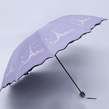 Longless Paraguas, vinilo, UV, soleado, doble, tres paraguas, sombrillas,