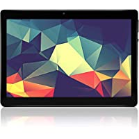 Tablet 10 inch Android 7.0 Quad-core Processor Tablet with 4GB RAM 64GB ROM Tablet PC Built in WiFi and Camera GPS Two Sim Card Slots Unlocked 3G Phone Call Phablet (Black)