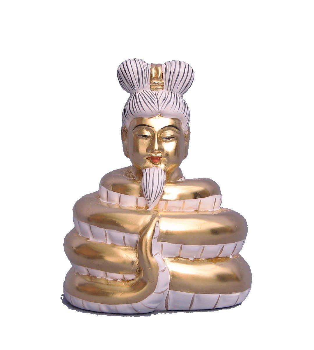 木彫仏像 宇賀神(翁像) 8.5cm 桧木金箔仕上げ B01M23ZE80