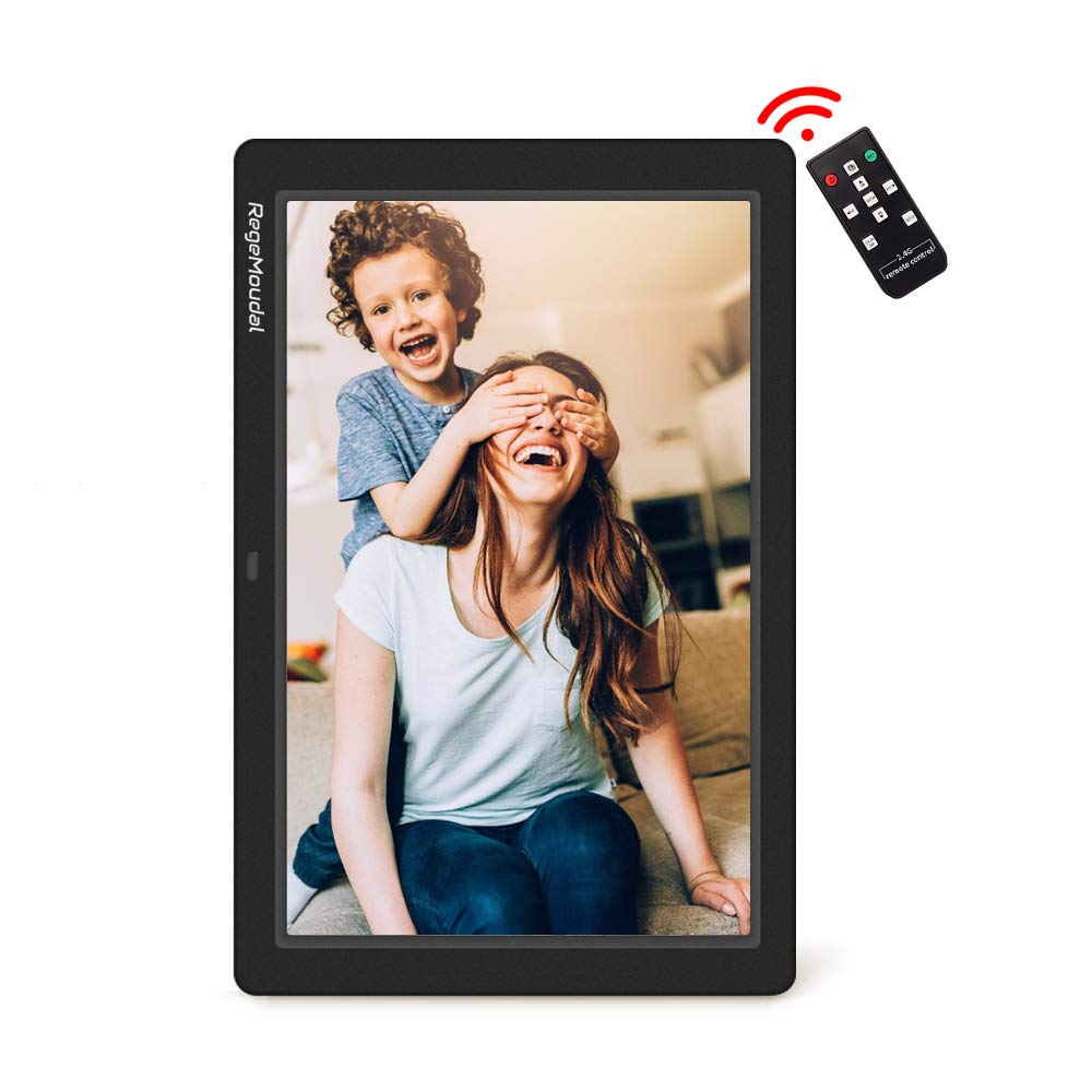 Digital frame, RegeMoudal 12 Inch Electronic photo frame with Wireless Remote Control, Support SD Card/USB by RegeMoudal