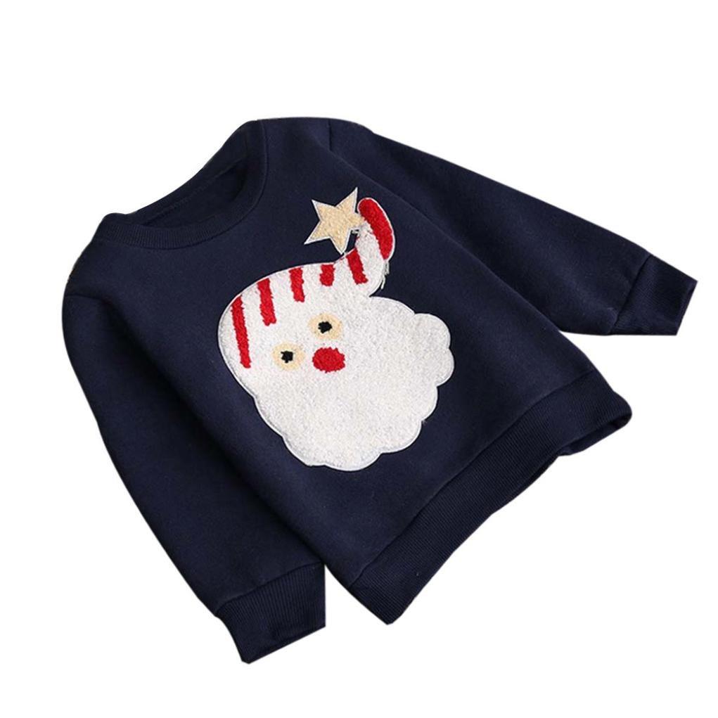 Ouneed® Junge Mädchen Kinderkleidung Babybekleidung , Mädchen Winter Weihnachten Tops Oberbekleidung Pullover Jacken Warm Mantel Kleidung 0-AZQW886