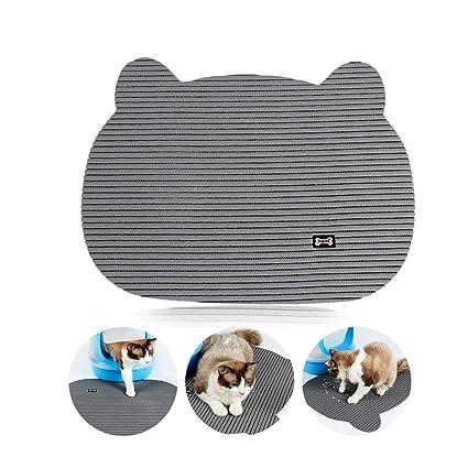 Womdee Alfombrilla de Arena para Gatos, Alfombrilla para Mascotas, Alfombra Impermeable para Inodoro,