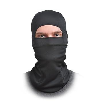 Pasamontañas cara máscara - talla única elástica tela - protege del viento, sol, polvo