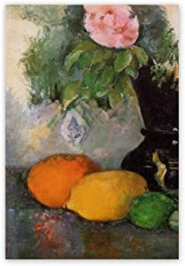Wall Art Single Panel Oil Painting,Flowers And Fruit,Canvas Wrapped Framed Artwork Pictures Print For Living Room Bedroom Office Kitchen Decorations,16x20 inch
