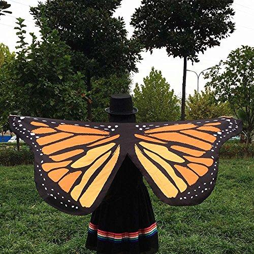 SKY cosplay La mariposa de la tela suave se va volando el accesorio del traje del duendecillo de la ninfa de las señoras Amarillo