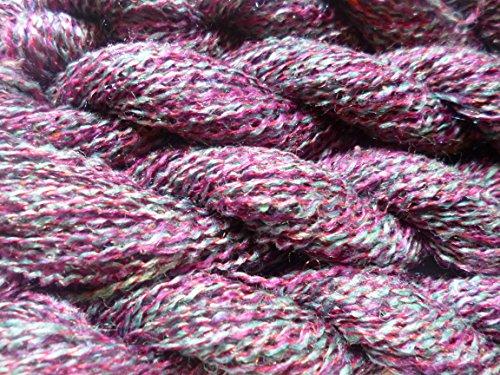 FOUR PACK Multicolor Tweed Specks Purple Gray Fingering Knitting Crochet Yarn