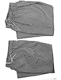 Access DKU - 2-PACK - Chef Pants checkered elastic waist black/white houndstooth occupation