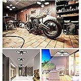 80W LED Garage Lights, Deformable Garage Light with 3 Adjustable Wings, 8000LM, E26 LED Shop Light, Barn Light, High Bay Light, Ceiling Lighting Fixture for Warehouse
