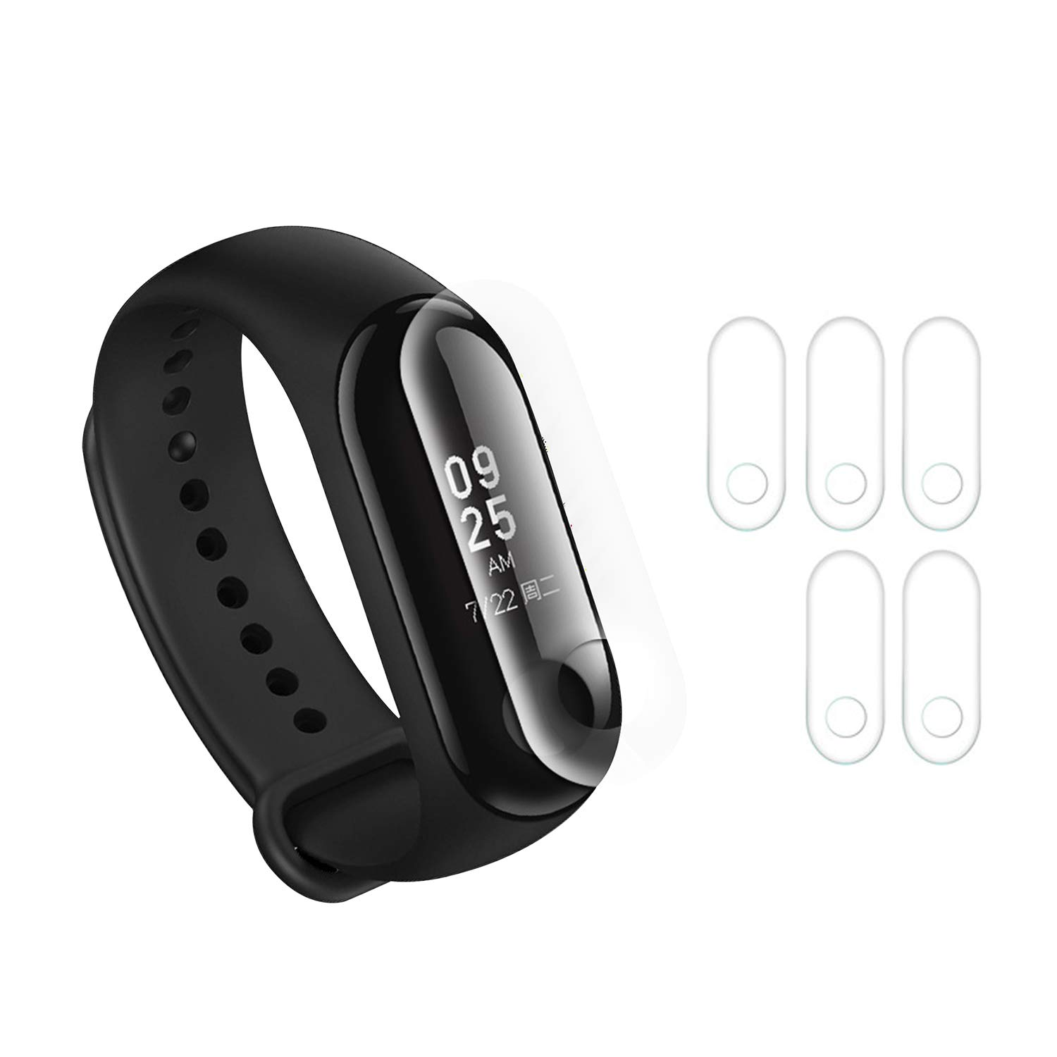 Screen Protector Compatible with Xiaomi mi Band 2 Smart Bracelet Wristband, Not Tempered Glass Protective Films 5PCS (for MI Band 2)