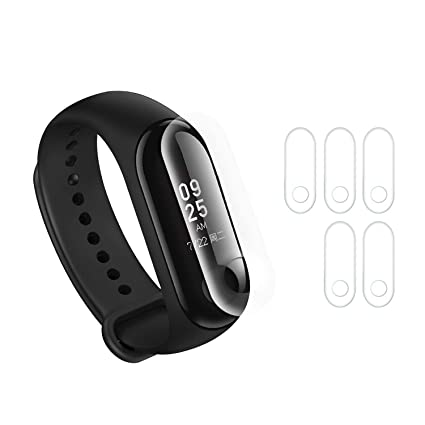 Screen Protector Compatible with Xiaomi mi Band 3 Smart Bracelet Wristband, Not Tempered Glass Protective Films 5PCS (for MI Band 3)