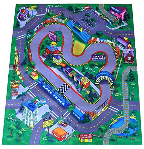 race track felt play mat buy online in uae sports products in the uae see prices reviews. Black Bedroom Furniture Sets. Home Design Ideas