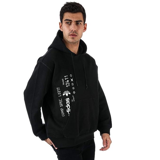 Hombre Negro Con Adidas Capucha Originals Para Sudadera 8p1UX