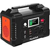 200W Portable Power Station, FlashFish 40800mAh Solar Generator with 110V AC Outlet/2 DC Ports/3 USB Ports, Backup…