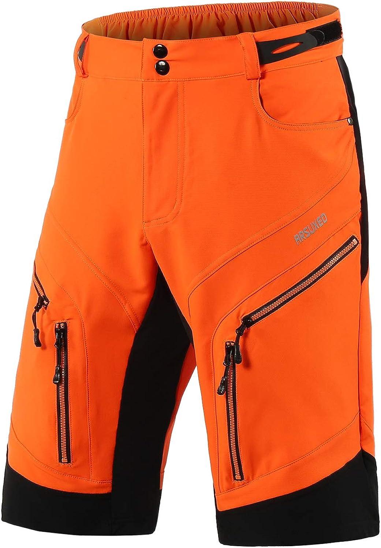 1903 ARSUXEO holgados resistentes al agua Pantalones cortos de ciclismo para hombre