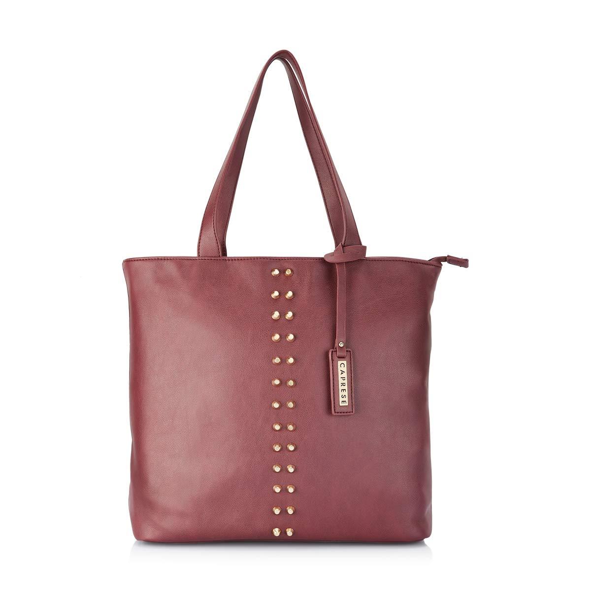 7ed8b0511b Caprese Vienna Women s Tote Bag (Plum)  Amazon.in  Shoes   Handbags