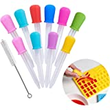 Hsxfl Liquid Droppers for KidsSilicone and Plastic Pipettes with Bulb Tip-5 ML Eye Dropper for Candy Molds Gelatin Maker…