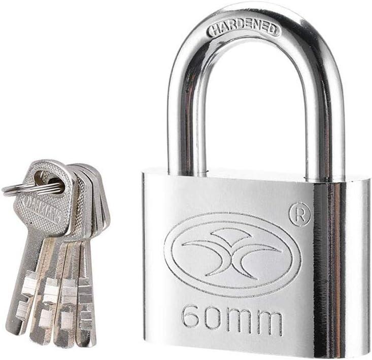 Anti-theft Waterproof Antirust For Outdoor Gate Gym Locker Garage Door Lock Color : Silver-Short Beam, Size : 60mm MUMA Stainless Steel Key Padlocked