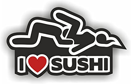I Love Sushi Car Sticker Tuning Oem Dub In The Shocker Hand Decal Sticker Bomb Bombing Fun W Auto