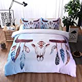 Veaty Lightweight Quilt Unique Indian Style Vintage Feather Comfortable and Ultra-Soft 100% Cotton Girls Quilt for Bed