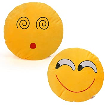 Amazon.com: Cortina almohada Emoji sonriente Emoticono ...