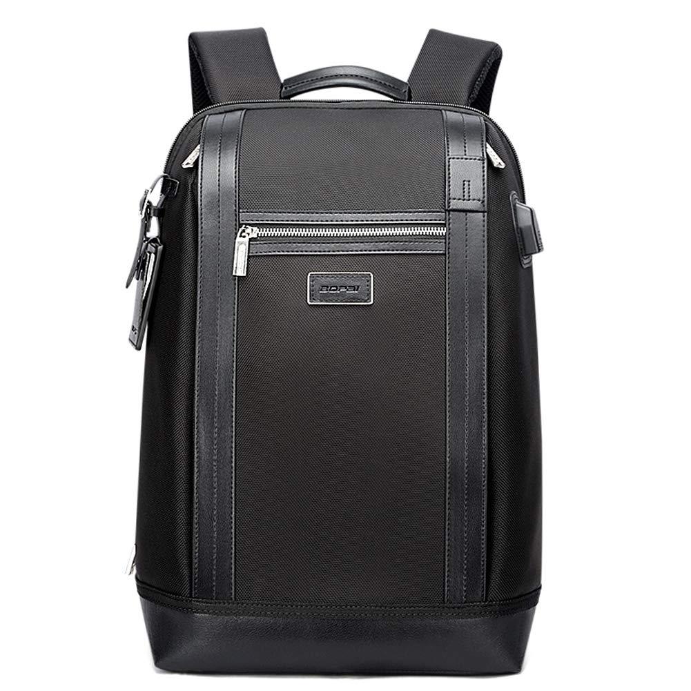 メンズ盗難防止ブリーフケースバックパック、USB 充電ラップトップ大容量旅行オックスフォード布 Bagpacks,Black,31*16*45cm B07S1DCV7X Black 31*16*45cm