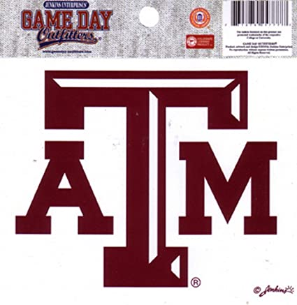 Ncaa texas am aggies small window decal stickers