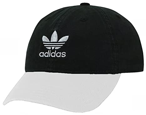 cf2d49538f3 Image Unavailable. Image not available for. Color  adidas Originals Mens  Relaxed Strapback Cap (Black White