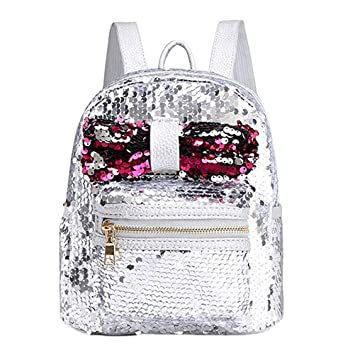TENDYCOCO Stylish Shining Sequins Crossbody Bag Backpack Bowknot Women  Backpacks Cute Party Design for Teenager Girls f675da813547