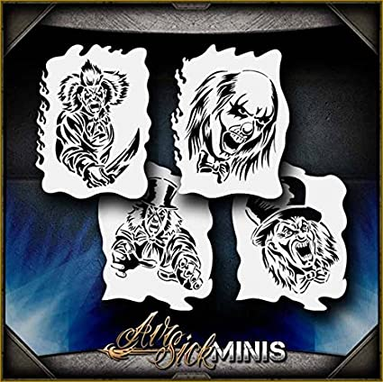 amazon com clown mini set airsick airbrush stencil template