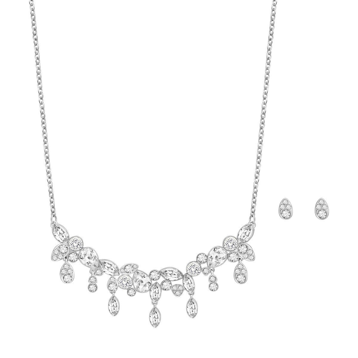 Swarovski Diapason Earrings and Necklace Set