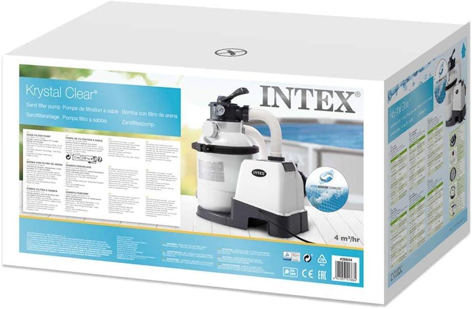 Intex 26644 - Depuradora de arena Krystal Clear 4.500 litros/hora ...