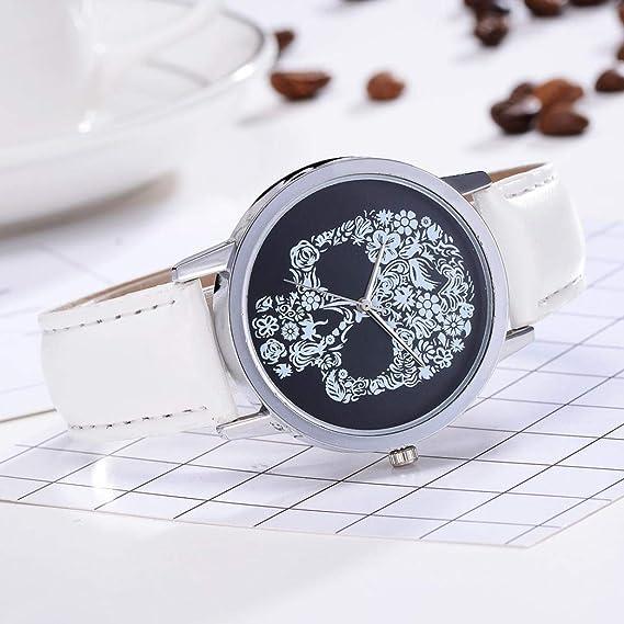 JiaMeng Banda de Reloj de Pulsera de Cuarzo analógico de Lujo Banda de Cuero de Moda Relojes(A,tamaño Libre): Amazon.es: Ropa y accesorios