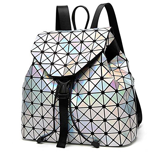 DIOMO Geometric Lingge Laser Women Backpack Travel Shoulder Bag(Laser) by DIOMO (Image #1)'