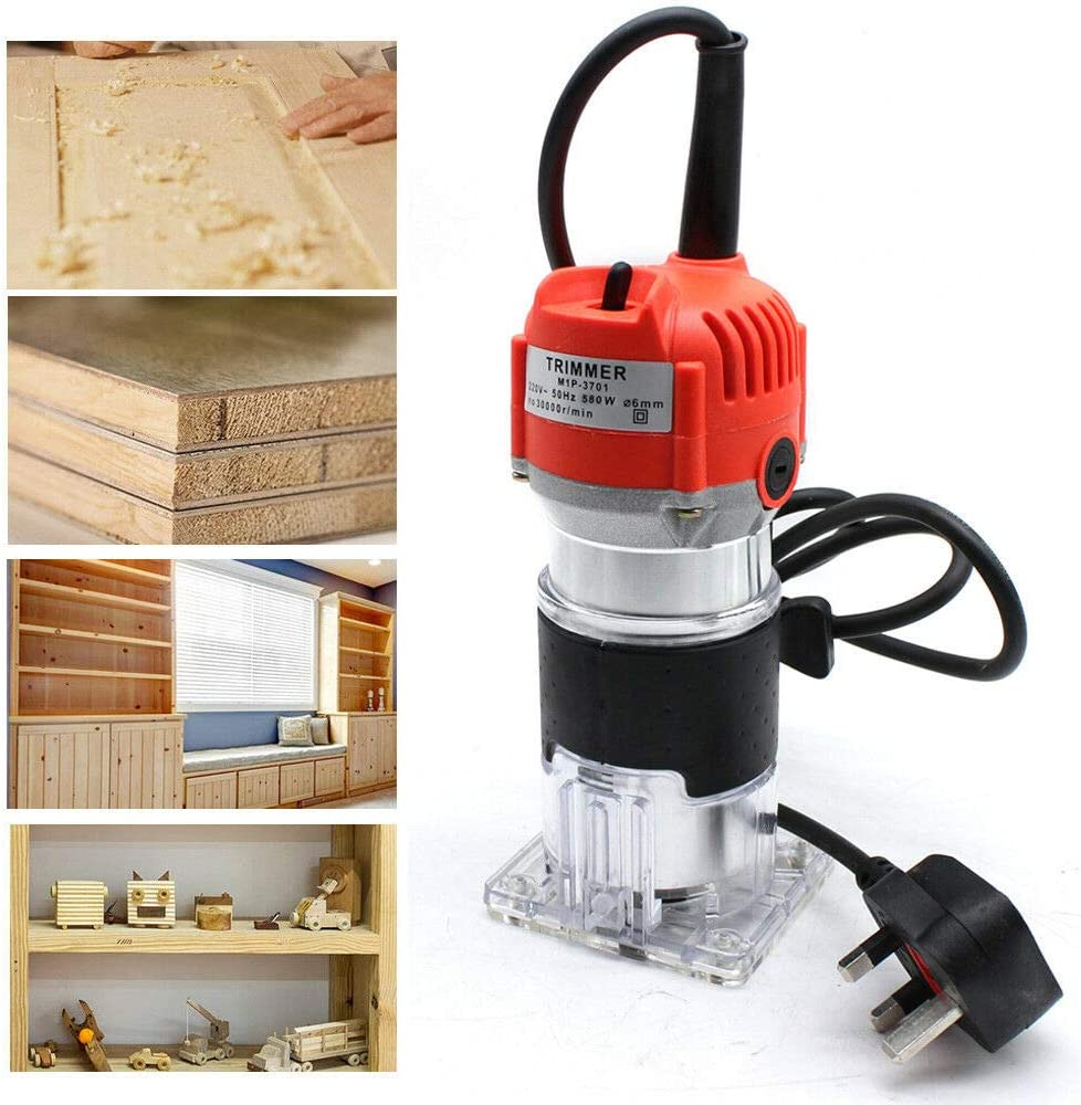 Harolddol 6 35mm 1 4 Electric Hand Trimmer Wood Laminator Palm Router Joiners Tool Amazon Co Uk Diy Tools
