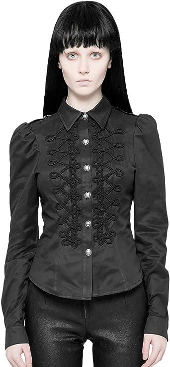 Punk Rave - Camisa de manga larga para mujer, diseño gótico ...