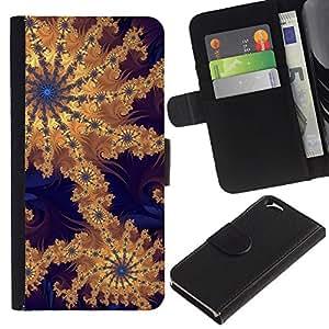 """Apple (4.7 inches!!!) iPhone 6 , la tarjeta de Crédito Slots PU Funda de cuero Monedero caso cubierta de piel ("""" Wallpaper Pattern Design Artwork Drawing"""")"""