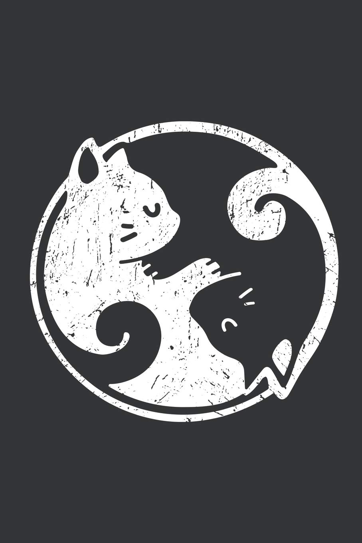 Notebook: Yin Yang Cats Cute Kawaii Cat Lover Yoga Journal ...