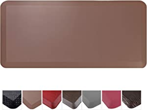 """Cook N Home Anti-Fatigue Comfort Mat, Faux Leather, 39"""" x 20"""" x 3/4"""", Brown"""
