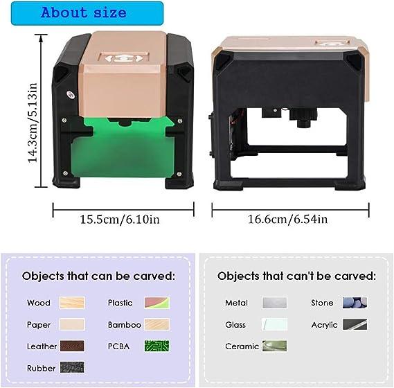 Máquina de grabado láser Impresora láser grabador 3000MW Mini ...
