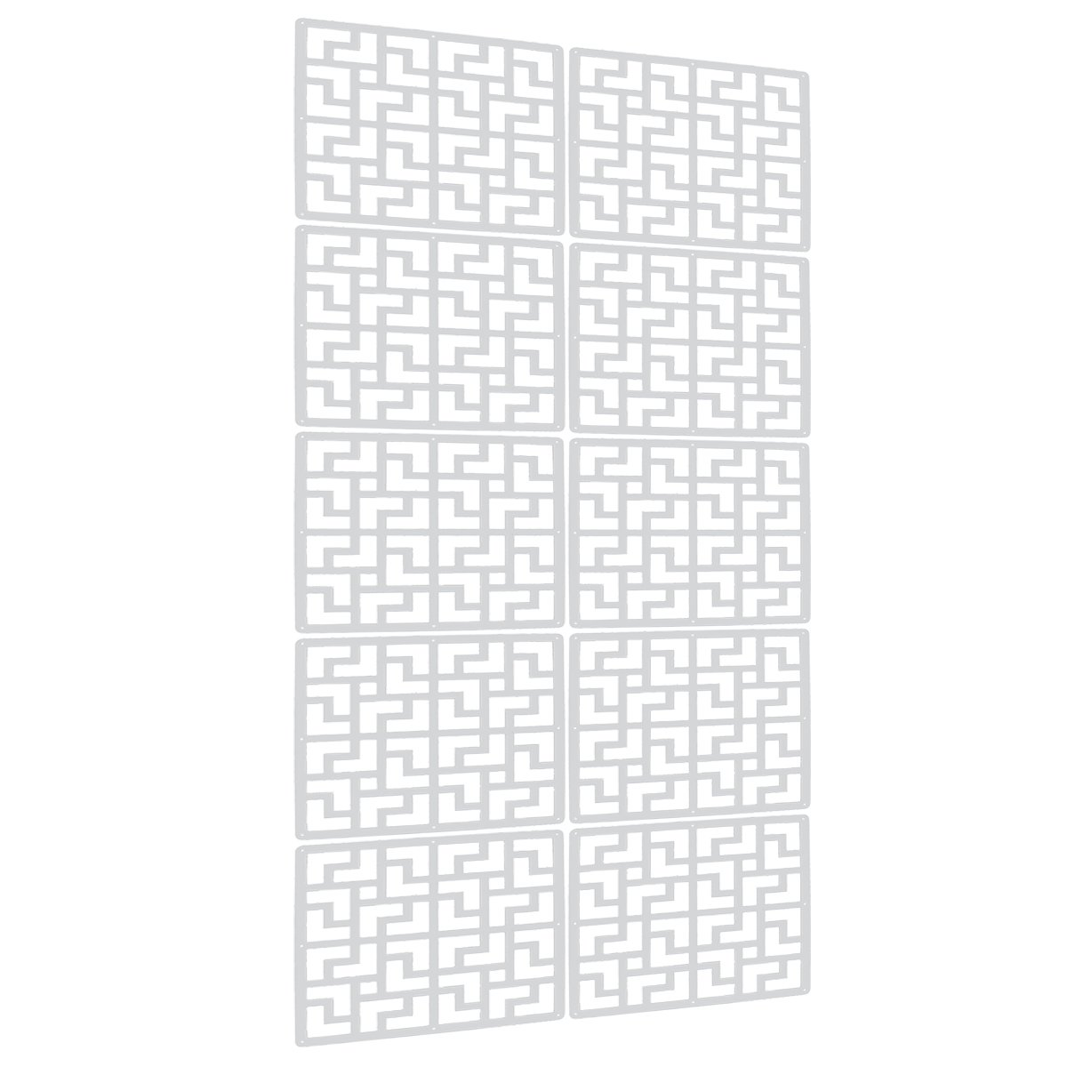 Lchen Hanging Room Divider,0.2''T White Wood-plastic Panel Screen for Decorating Beding, Dining, Study and Sitting-room, Hotel, Bar and School(FY,15.3''x15.3'')