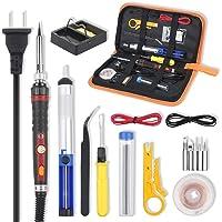 Vastar Soldering Iron Kit, 60W Adjustable Temperature Soldering-iron Gun Kit with Desoldering Pump, Soldering Station…