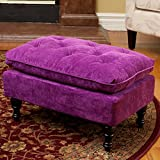 Best-selling Velvet Tufted Ottoman, Purple