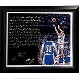 NCAA Duke Blue Devils Framed 22x26 Christian Laettner Facsimile 'The Shot' Story Stretched Canvas
