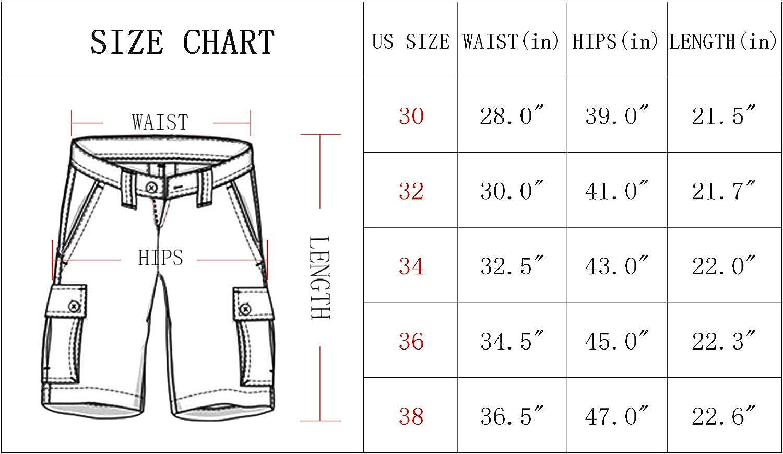 Kolongvangie Mens Outdoor Super Lightweight Quick Dry Slim Fit Cargo Shorts with Multi Pockets No Belt