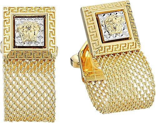 Versace Unisex Mesh Cufflinks Gold One - Versace Jewelry Fashion