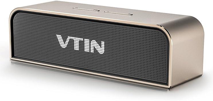 Potente altavoz Bluetooth port/átil Vtin negro