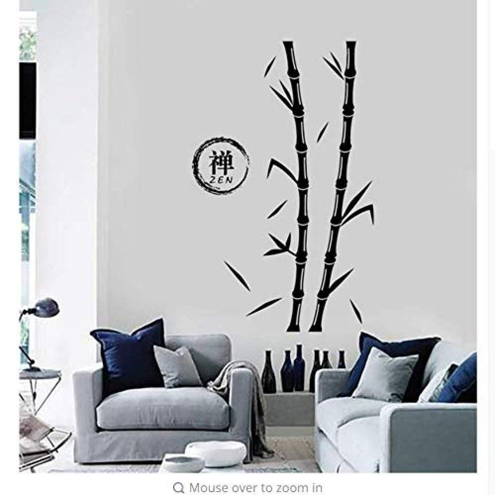Tatuajes de pared Árbol Bambú Zen Enso Vinilo redondo ...