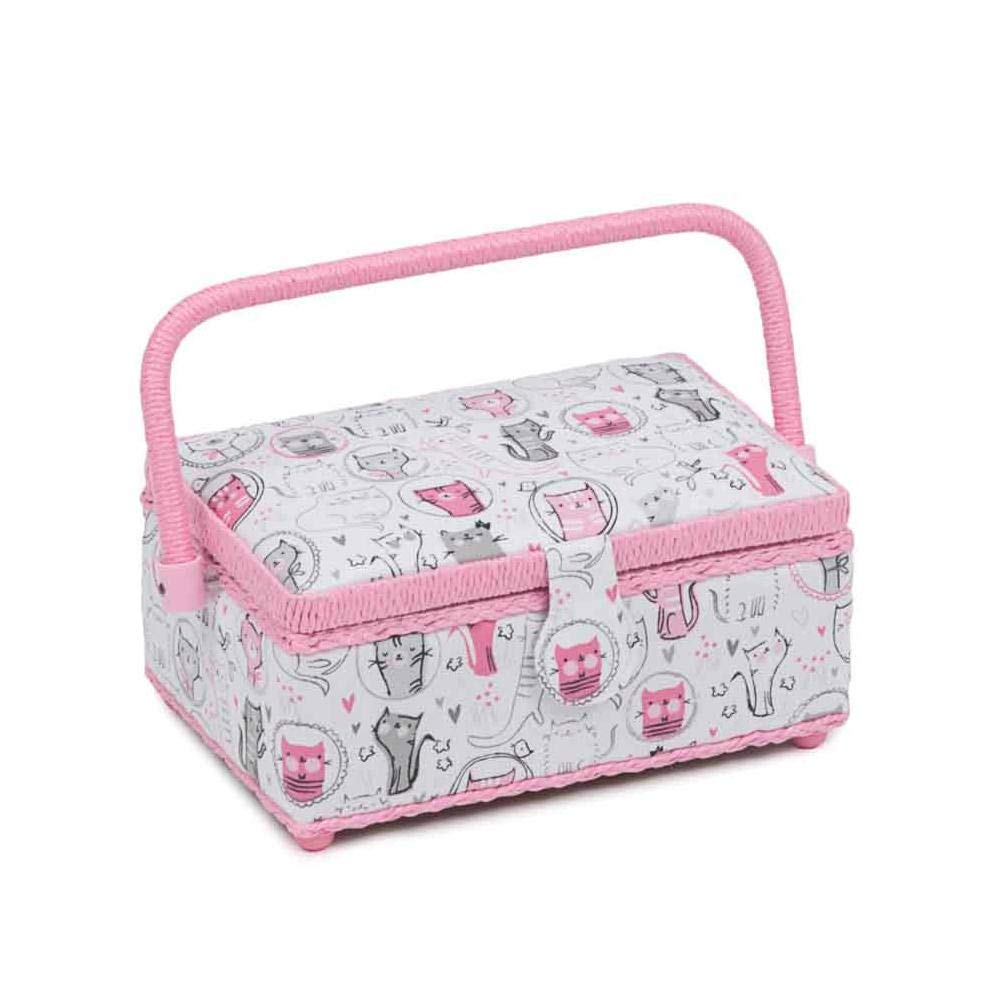Hobby Gift Classic Small Rectangular Sewing Box Meow HobbyGift